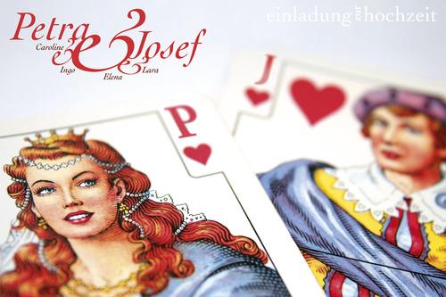 Queen U0026 Jack Of Hearts | Wedding | Invitation | Detail 1