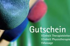 Therapieklettern | Gutschein vorne | Detail: Bild und Typografie 2