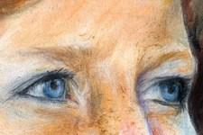 Portrait Birgit | Illustration | Pastellkreide | Augen (Detail 4)