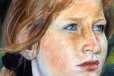 Portrait Birgit | Illustration | Pastellkreide | Gesicht (Detail 5)
