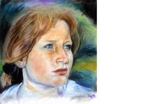 Portrait Birgit | Illustration | Pastellkreide (Komplett)