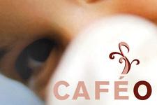 Café Ole | Postkarte | Detail: Bild und Logotype