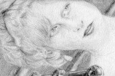 Selbstportrait | Zeichnung | Detail 10 (Foto von Birgit)