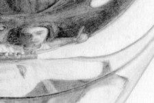 Zeichnung | Detail 13 (Reflexion des Portraits und Alu Deckel)