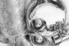 Selbstportrait | Zeichnung | Detail 24 (Mitte)