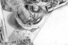 Selbstportrait | Zeichnung | Detail 25 (Untere Hälfte)