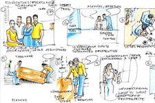 IKEA | Lehrling | Einrichtungsberater/in | Storyboard Skizze (Detail 1)