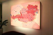 Kolping Österreich | Landkarte | Leuchttafel (Lichtwanne) von links (2)