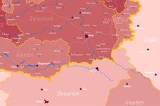 Kolping Österreich | Landkarte | Leuchttafel | Detail: Südost