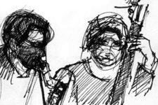 Auszug aus dem Skizzenbuch: Winterreise 1A | Live (Uli & Oli)