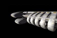 3D Modell eines Raumschiffs   Seitenansicht B