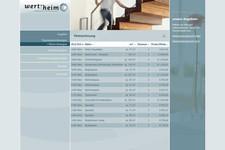 Wert-heim Immobilien | Website | Liste der Mietwohnungen
