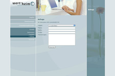 Wert-heim Immobilien | Website | Anfrage Formular