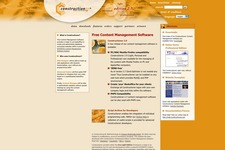 Constructioner | Logo angewandt auf der Website