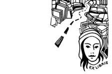 Anna Magnand | Ex libris | Buch Stempel | Illustration (Unten)